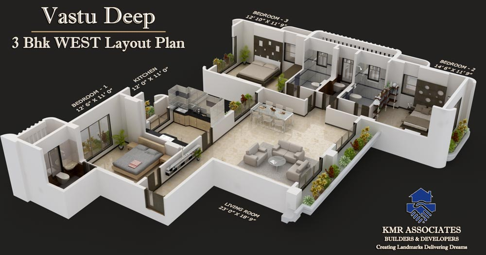 Floor plans vastu deep kmr associates for 4 bhk villa interior design